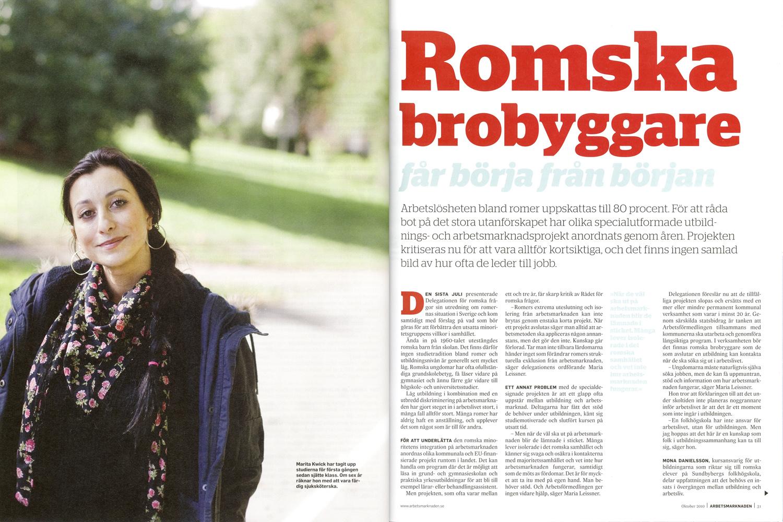 Arbetsmarknaden romskfolkhogskol